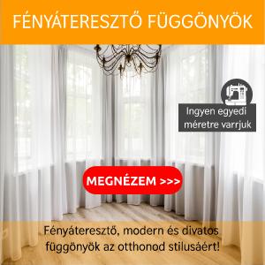 Fényáteresztő, modern és divatos  függönyök az otthonod stilusáért!