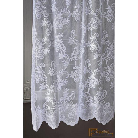(2 méret) Fehér jaquard függöny 54127/270 cm