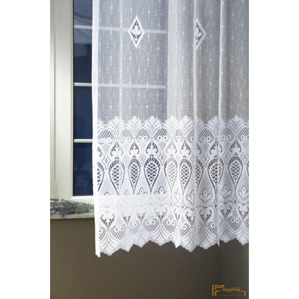 (2 méret) Jacquard függöny 4104/180 cm 01 fehér