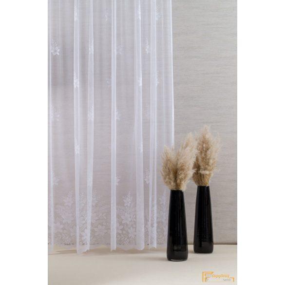 ( 2 méret) Virágmintás szép fehér Jaquard függöny BK1001 01 180 cm