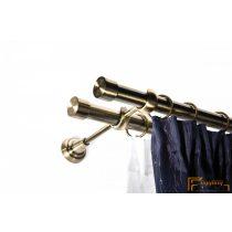 Empire 25 mm tartó Classico dupla 25/25 antik arany 1 db/cs