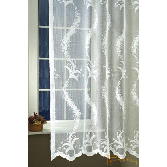 (2 méret)Ella Jacquard függöny fehér 39003/180cm