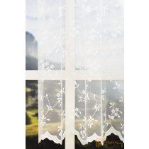 (2 méret) Fehér apró virágmintás jacquard fényáteresztő függöny R- 6784/180