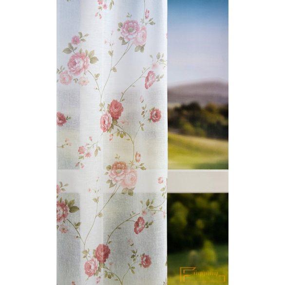 Rózsaszín rózsa mintás fényáteresztő R- 6679/280-401