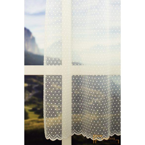 (2 szín 2 méret) Ekru fényáteresztő BELLA függöny R-6812/180