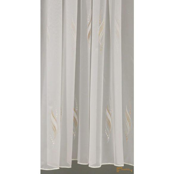 (2 méret 2 szín) Hímzett voila függöny Monza 12 Fehér Barna 210 cm+ózs