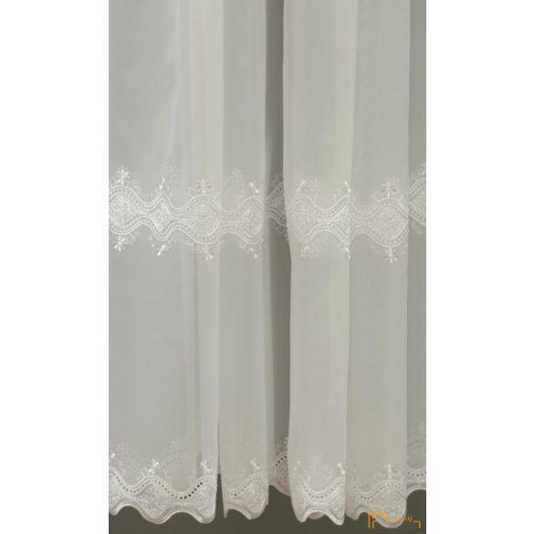 (2 méret 2 szín) Klasszikus hímzett minta Palermo 10 Fehér 210 cm+ózs