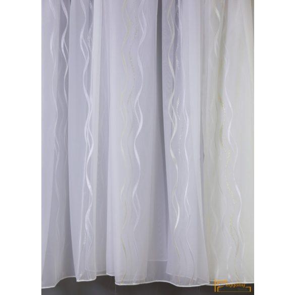 (3 szín) Hullám mintás függöny Preston 11 Fehér Ecru 290 cm+ózs