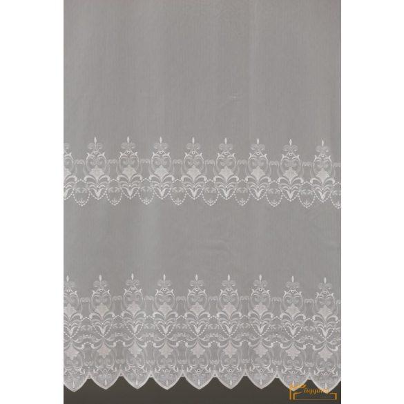(2 méret 2 szín) Savona 10 Fehér hímzett fényáteresztő függöny 210 cm+ózs
