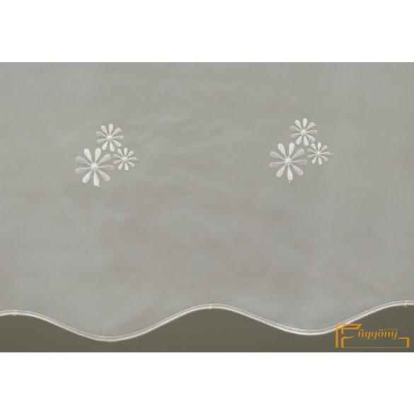 (2 méret 4 szín) Virág mintás hímzett függöny Torino10 210 cm