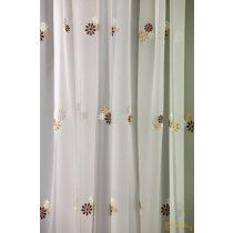 (2 méret 4 szín) Virág mintás hímzett függöny Torino13 210 cm
