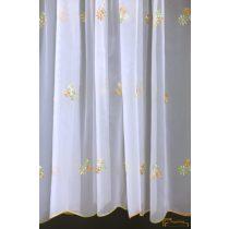 (2 méret 4 szín) Virág mintás hímzett függöny Torino15 210 cm