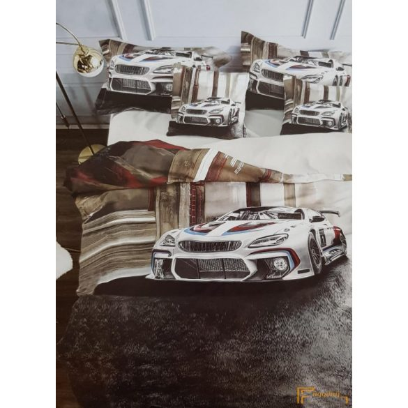 3D ágynemű - Fiús ágyneműhuzat (Rally autós)