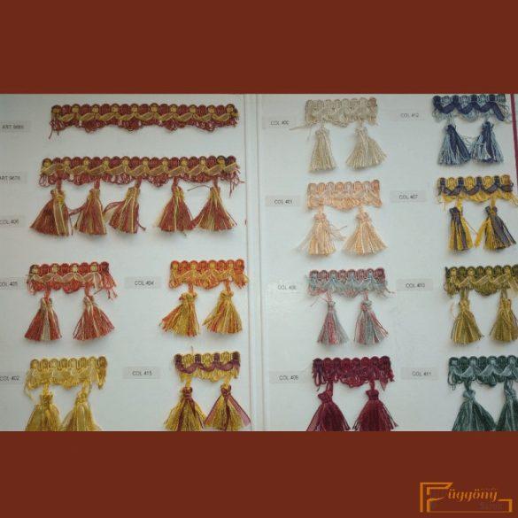 (13 szín) Organza szalagos paszomány fazon 9689