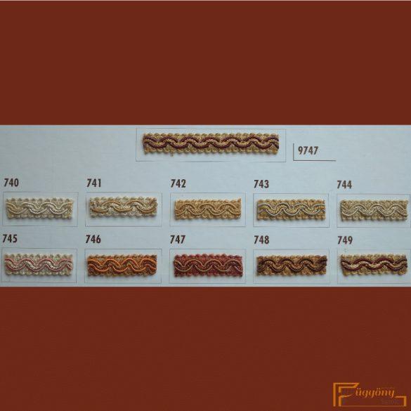 (10 szín) Hullámos bortni fazon 9747
