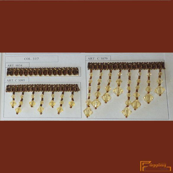 (6 szín) Gyöngyös paszományhoz illő bortni fazon 9834
