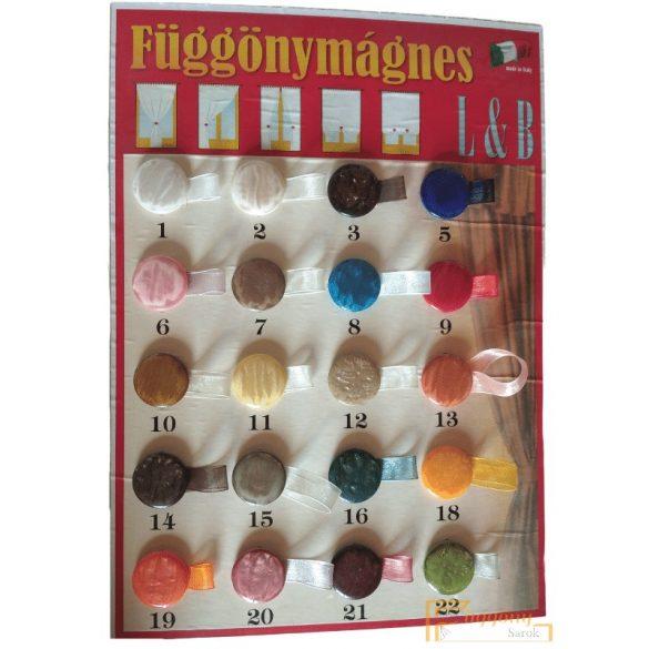(20 szín) Függöny mágnes - Min.2db rendelhető