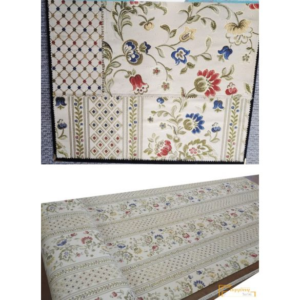 (3 minta) Windsor virág 1 bútorszövet